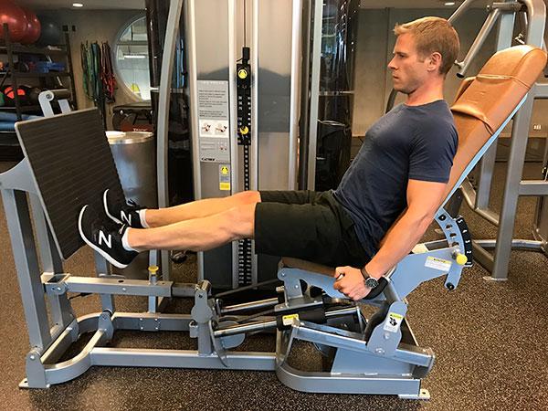 Máquina prensa piernas