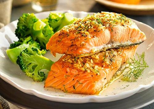 Brocoli con salmón